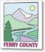Ferry County II Metal Print by Sarah Lawrence