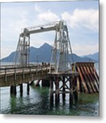 Ferry Dock And Pier At Porteau Cove Metal Print
