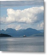 Ferry From Cortes Island Metal Print