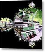 Ferry In Fractal Metal Print