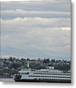 Ferry In Seattle Washington Metal Print