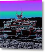 Ferry On Elliott Bay 4 Metal Print