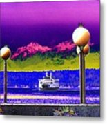 Ferry On Elliott Bay Metal Print