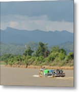 Ferry On The Chindwin 2 Metal Print