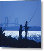 Ferry Road Fishermen Metal Print
