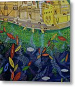 Ferry To The City Of Gold II Metal Print