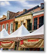 Festival New Orleans Seafood - French Quarter Metal Print