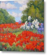 Festival Of Poppies Metal Print