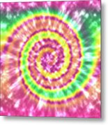 Festival Spiral Bright Colors- Art By Linda Woods Metal Print