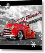 Festive Chevy Truck Metal Print