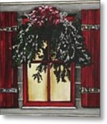 Festive Window Metal Print