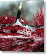 Festive With The Snow Metal Print