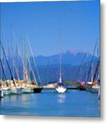 Fethiye Harbour Metal Print