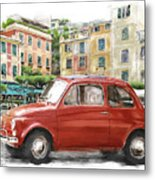 Fiat 500 Classico Metal Print by Michael Doyle