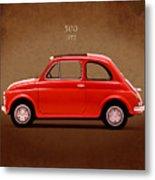Fiat 500 R 1972 Metal Print