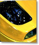 Fiat Coupe In Yellow Metal Print