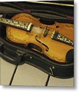 Fiddle In Case Metal Print
