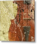Fiddle In Grunge Style Metal Print