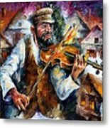 Fiddler From The Sky Metal Print