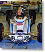 Fiddling About Indy Garages Metal Print