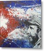 Fidel Castro Cuban Flag Metal Print