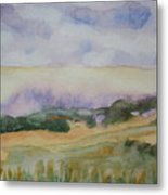 Field And Sky 1 Metal Print