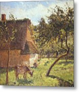 Field At Varengeville Metal Print by Camille Pissarro