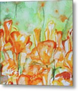 Field Of California Poppies Metal Print