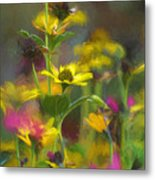 Field Of Flowers Paint Metal Print