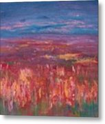 Field Of Heather Metal Print