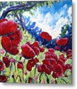 Field Of Poppies 02 Metal Print