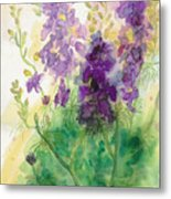Field Of Purple Metal Print