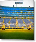 Field View Of Lambeau Metal Print