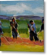 Field Workers In Watsonville - Study Metal Print