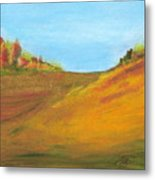 Fields In Fall Metal Print