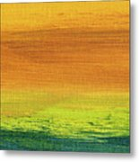 Fields Of Gold 3 - Abstract Summer Landscape Painting Metal Print