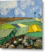 Fields To Gogh Metal Print