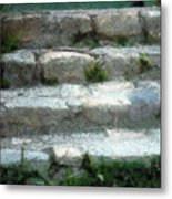 Fieldstone Stairs New England Metal Print