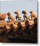 Fierce Guardians Of The Forbidden City Metal Print