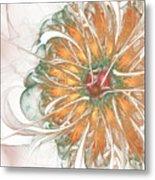 Fiery Chrysanthemum Metal Print