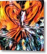 Fiery Crystal Metal Print