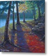 Fiery Fall Afternoon Metal Print