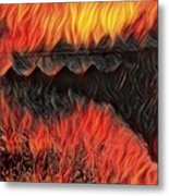 A Hot Valley Of Flames Metal Print