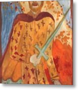 Fiery King Of Swords Metal Print