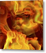 Fiery Mist Metal Print