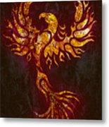 Fiery Phoenix Metal Print