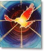 Fiery Raven Metal Print