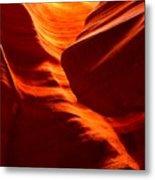 Fiery Sandstone Abstract Metal Print