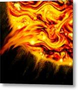 Fiery Sun Erupting With M1.7 Class Solar Flare Metal Print