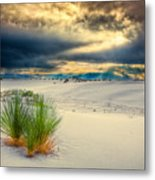 Fiery Sunrise At White Sands Metal Print